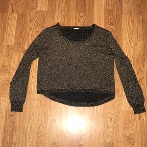 Rebecca Minkoff Black & Gold Metallic Sweater